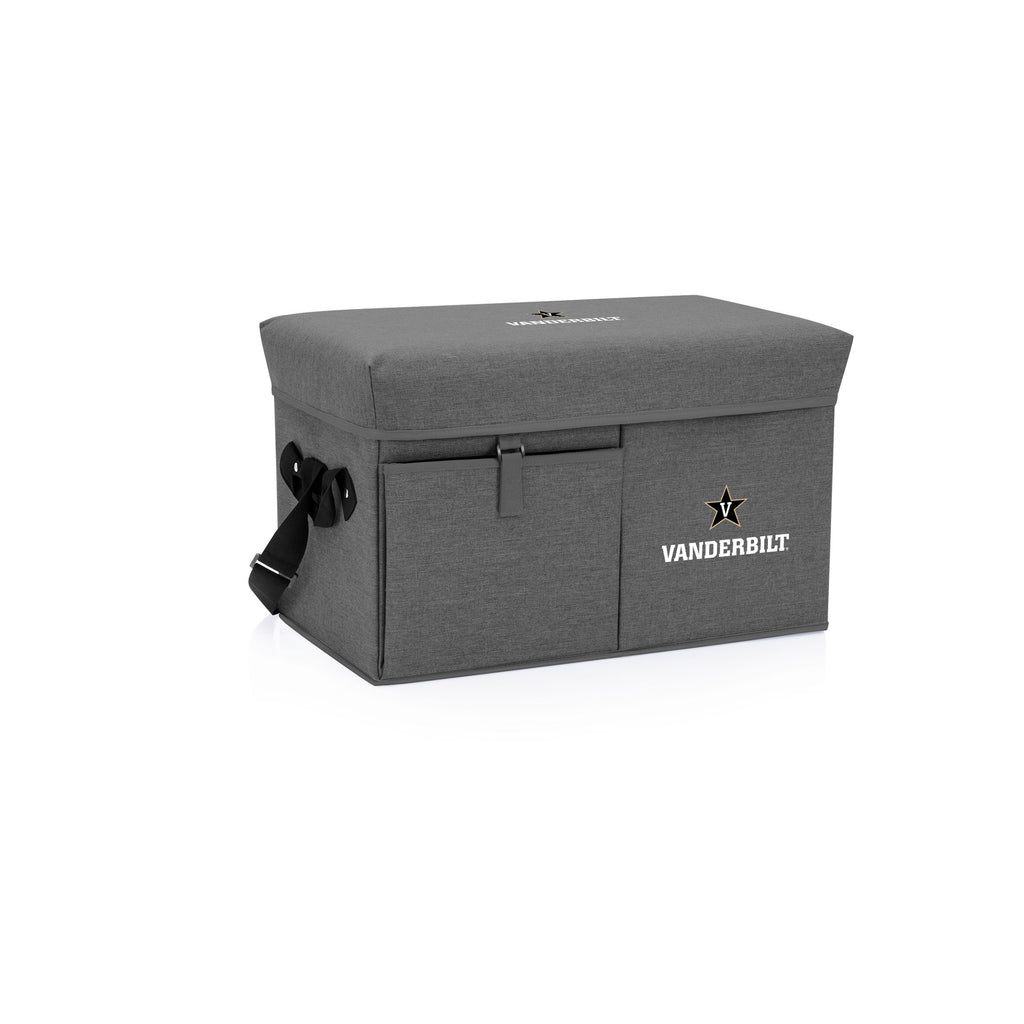 Vanderbilt Commodores Ottoman Cooler & Seat-Grey Digital Print