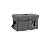 Northeastern Huskies Ottoman Cooler & Seat-Grey Digital Print