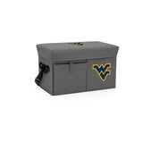 West Virginia Mountaineers Ottoman Cooler & Seat-Grey Digital Print
