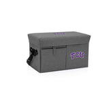 TCU Horned Frogs Ottoman Cooler & Seat-Grey Digital Print