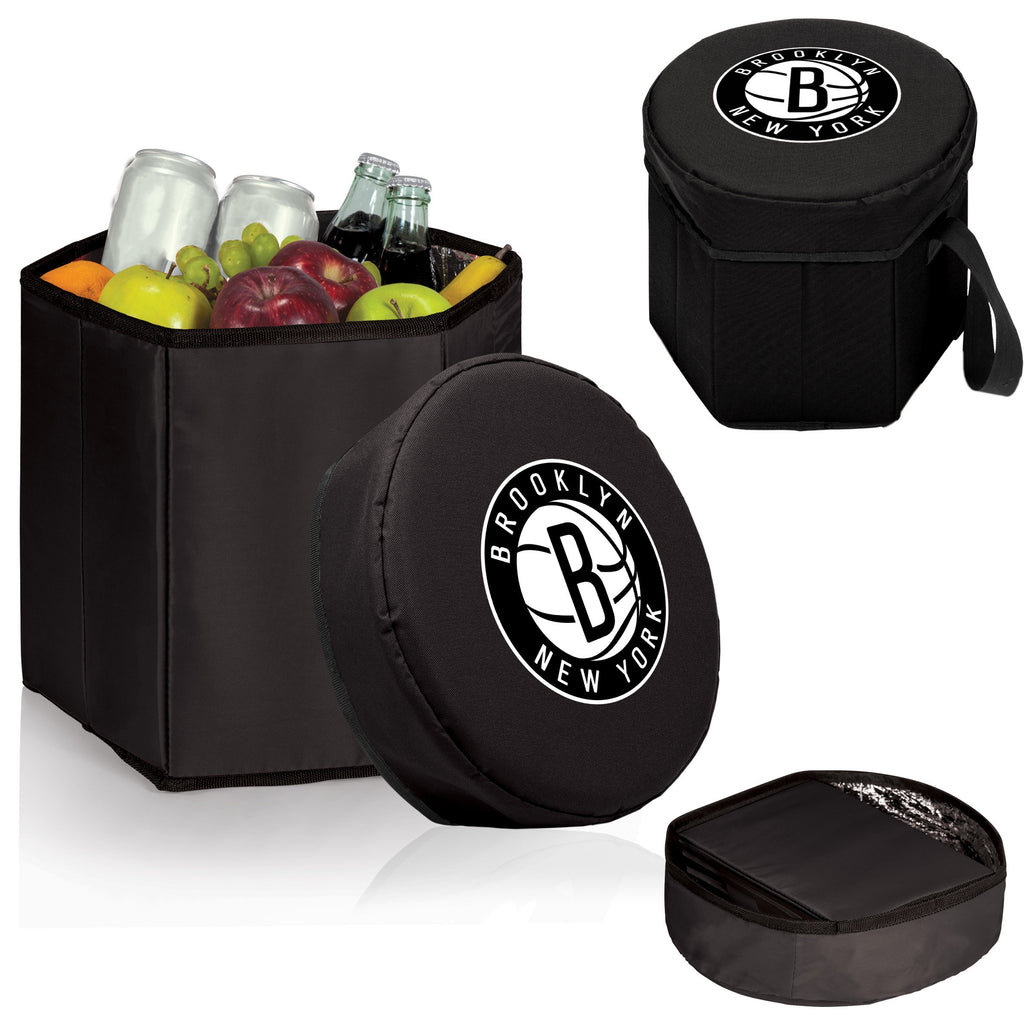 Brooklyn Nets 'Bongo' Cooler & Seat-Black Digital Print