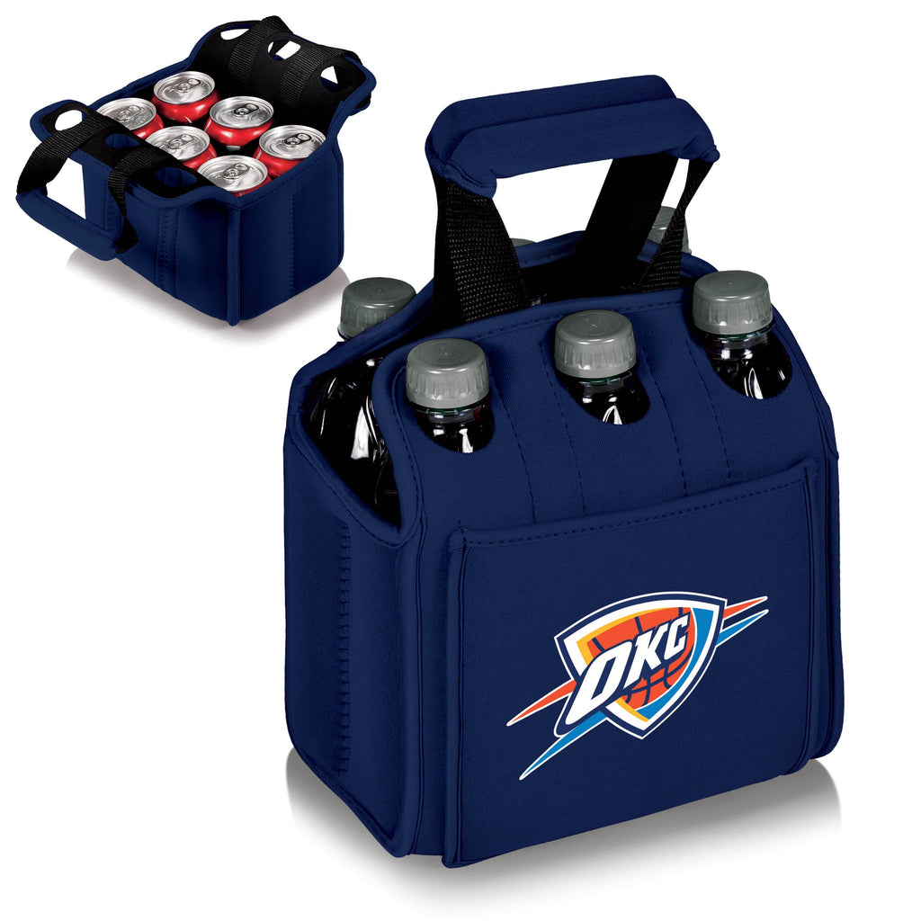 Oklahoma City Thunder 'Six Pack' Beverage Carrier-Navy Digital Print