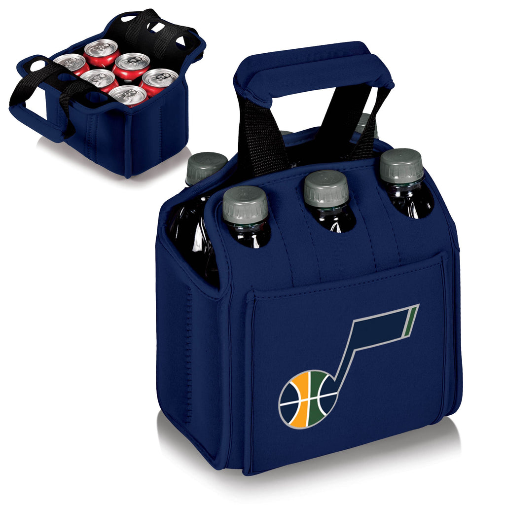 Utah Jazz 'Six Pack' Beverage Carrier-Navy Digital Print