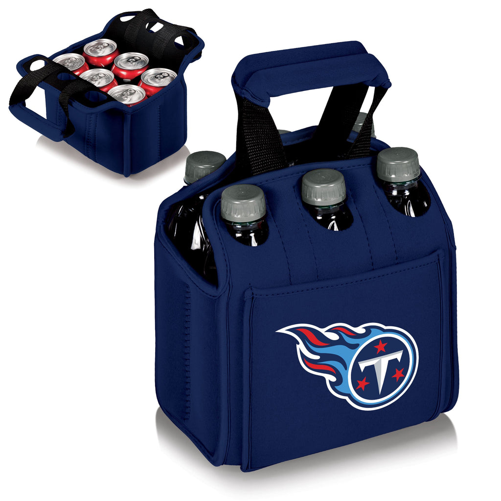 Tennessee Titans 'Six Pack' Beverage Carrier-Navy Digital Print