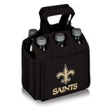 New Orleans Saints 'Six Pack' Beverage Carrier-Black Digital Print