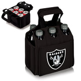 Oakland Raiders 'Six Pack' Beverage Carrier-Black Digital Print