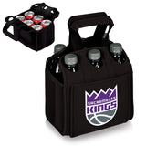 Sacramento Kings 'Six Pack' Beverage Carrier-Black Digital Print