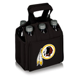 Washington Redskins 'Six Pack' Beverage Carrier-Black Digital Print