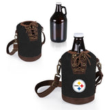 Pittsburgh Steelers Growler Tote w/Glass Growler-Black Digital Print