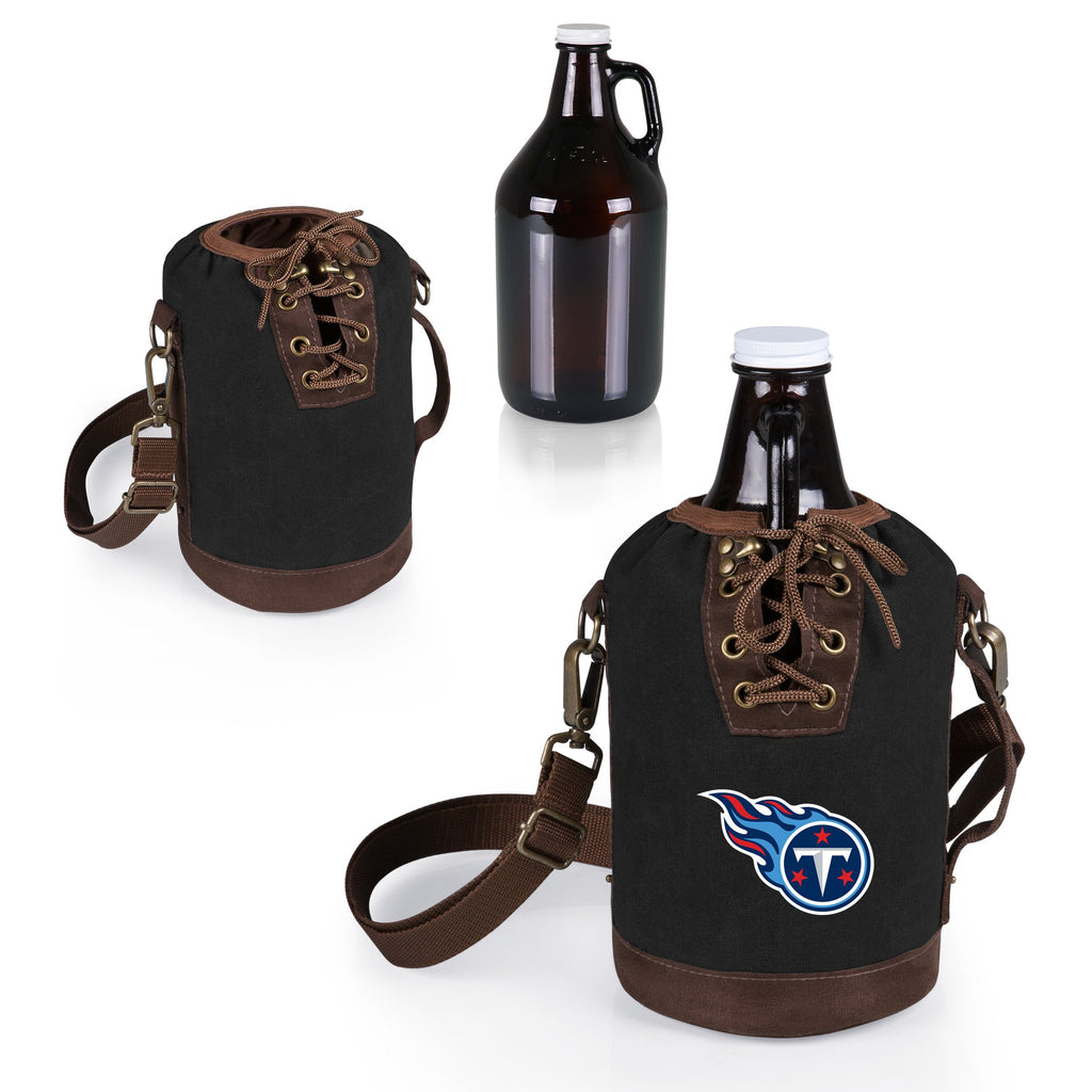Tennessee Titans Growler Tote w/Glass Growler-Black Digital Print
