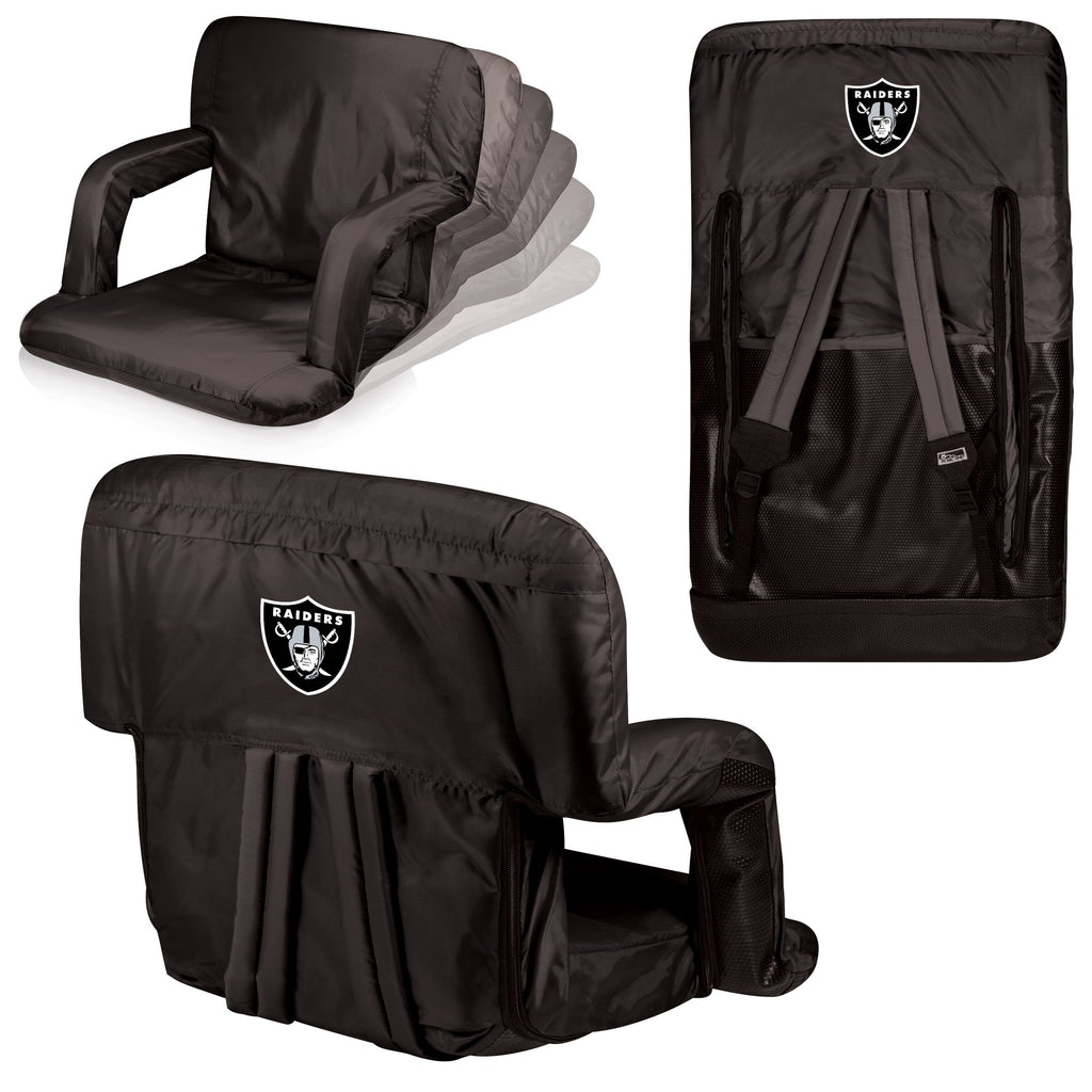 Oakland Raiders 'Ventura' Reclining Stadium Seat-Black Digital Print
