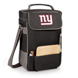New York Giants 'Duet' Wine & Cheese Tote-Black Digital Print