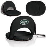 New York Jets 'Oniva' Portable Reclining Seat-Black Digital Print