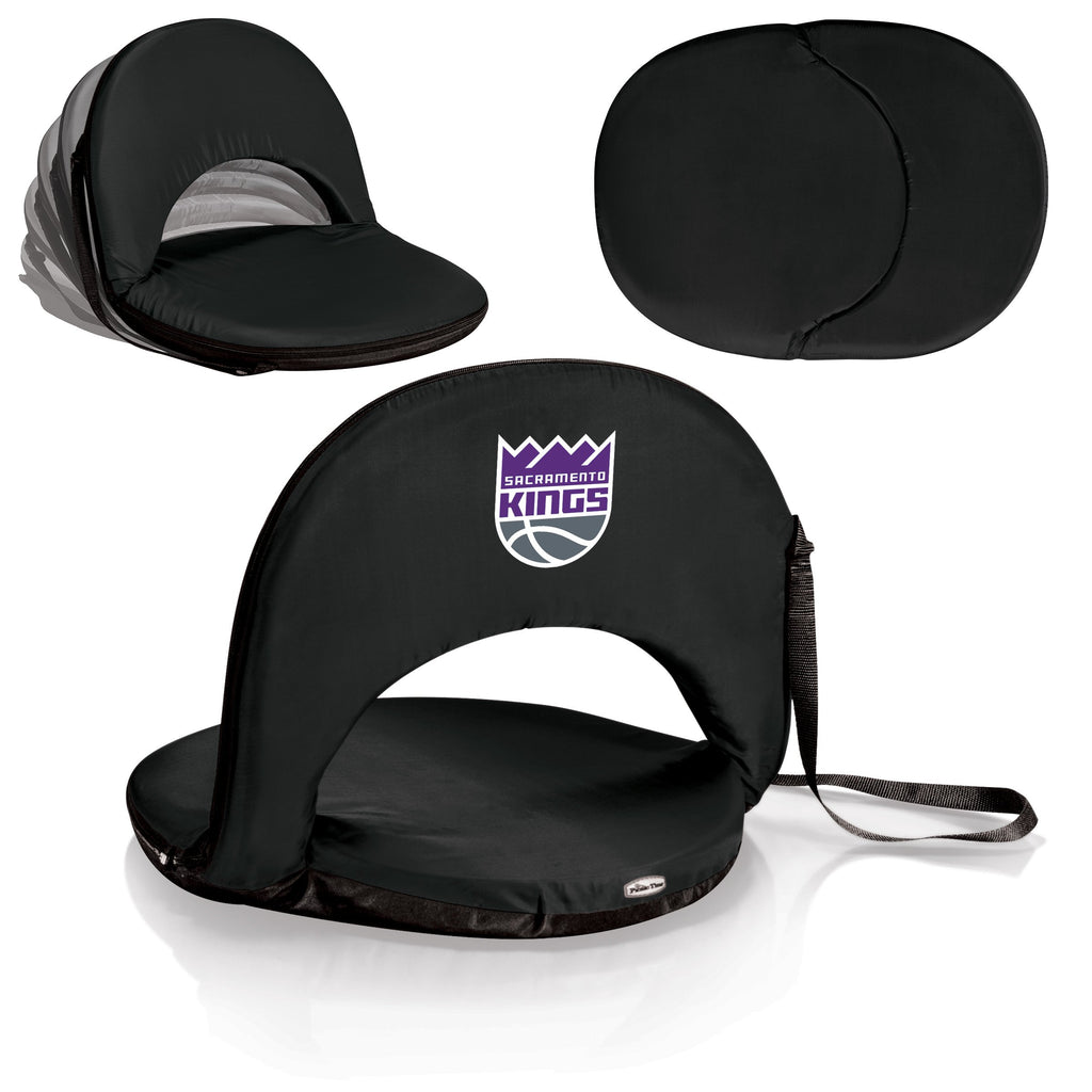 Sacramento Kings 'Oniva' Portable Reclining Seat-Black Digital Print