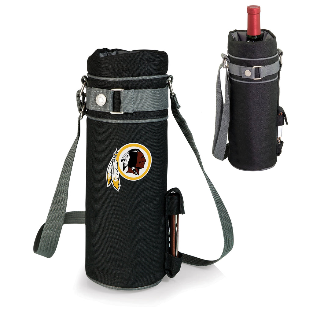 Washington Redskins 'Wine Sack' Beverage Tote-Black Digital Print