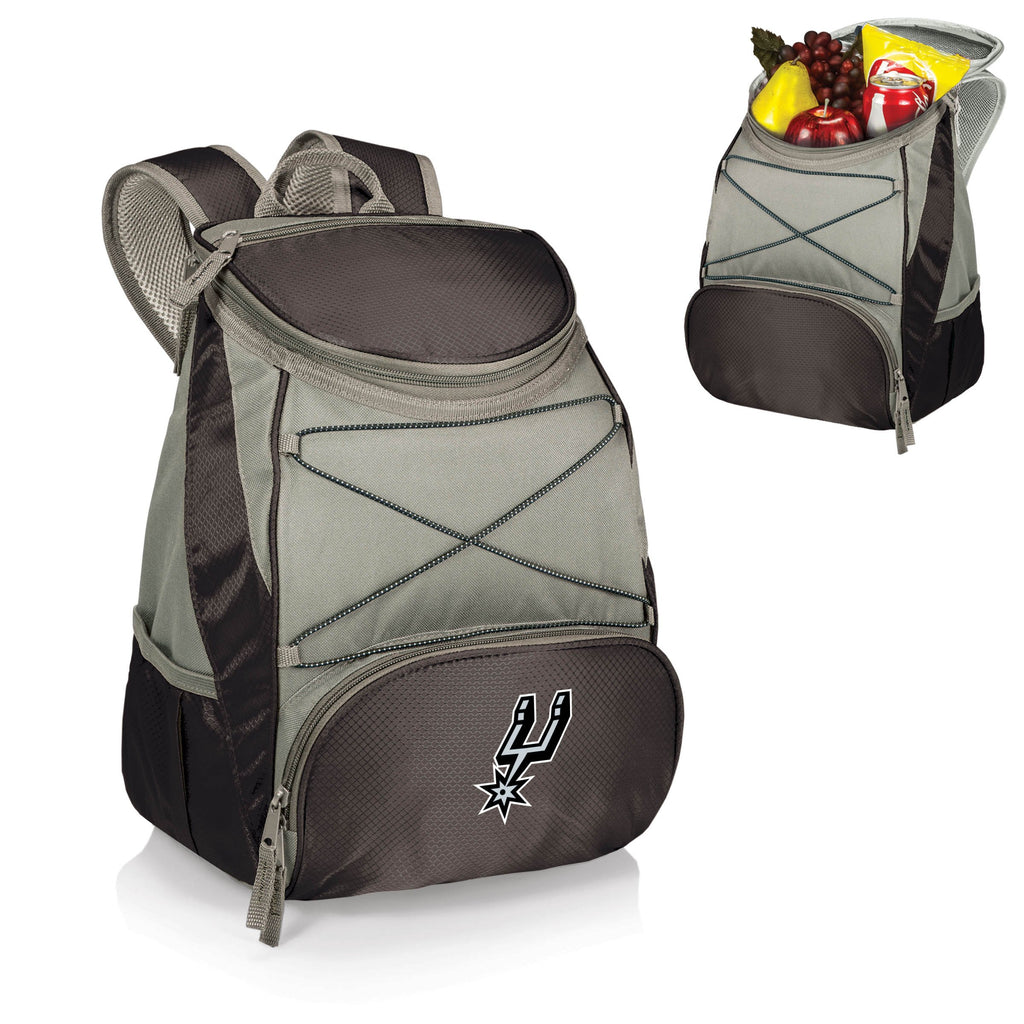 San Antonio Spurs 'PTX' Cooler Backpack-Black Digital Print