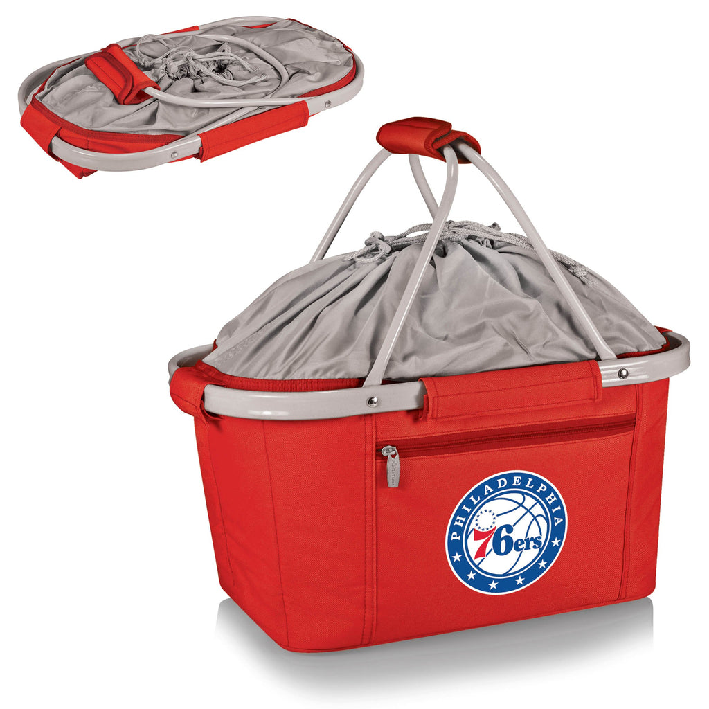 Philadelphia 76ers 'Metro Basket' Collapsible Cooler Tote-Red Digital Print