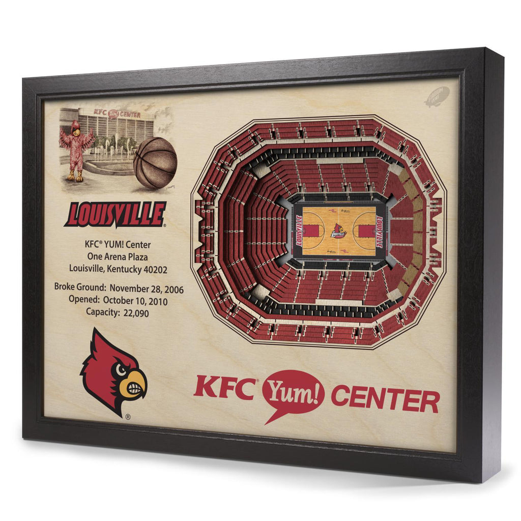 Louisville Cardinals 25-Layer Stadium View 3D Wall Art