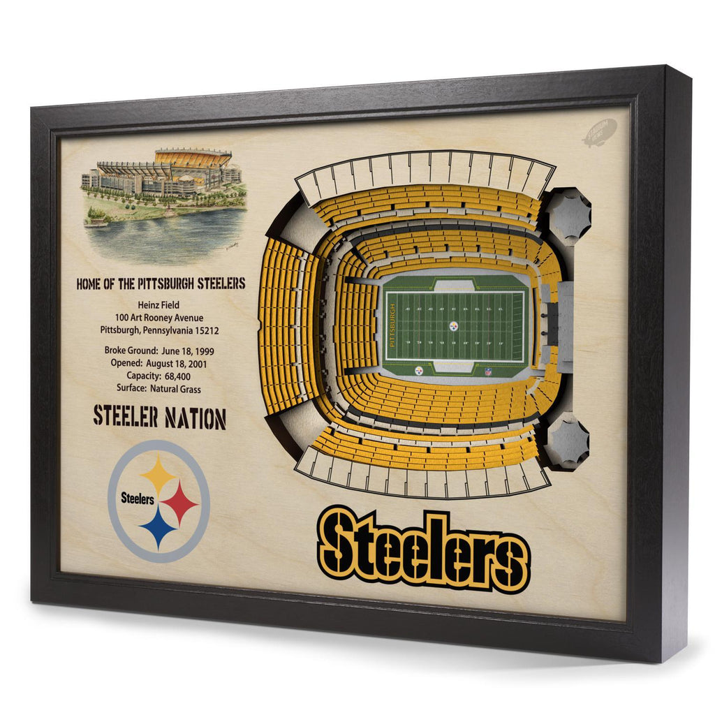 Pittsburgh Steelers 25-Layer Stadium View 3D Wall Art