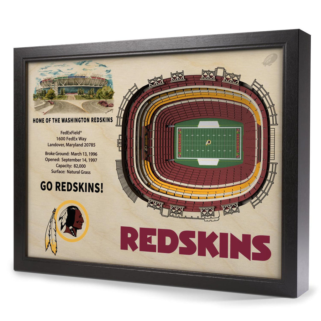 Washington Redskins 25-Layer Stadium View 3D Wall Art