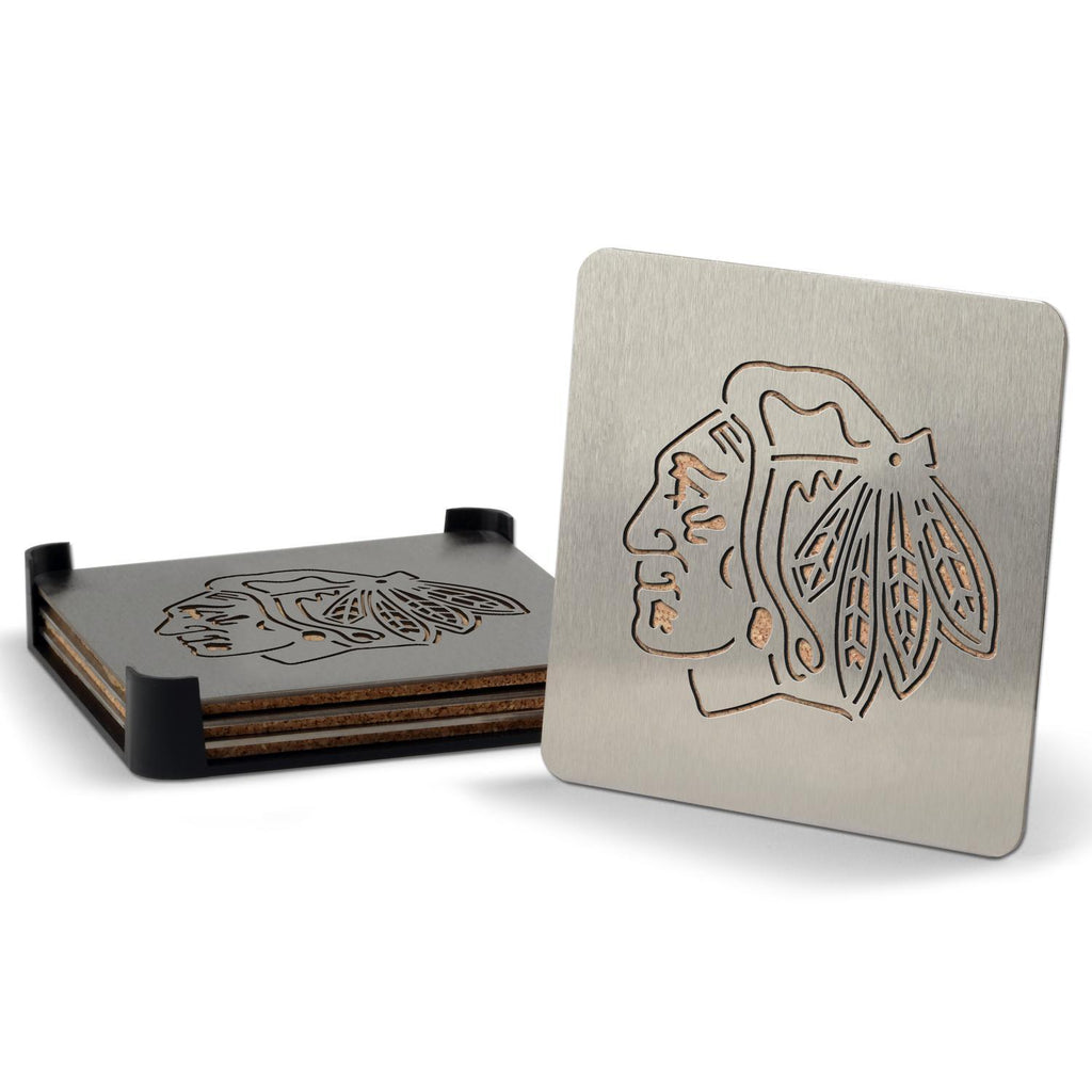 Chicago Blackhawks 4-piece Boaster Drink Coaster