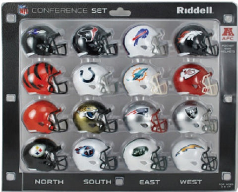 AFC Conference Set Riddell Pocket Pro Speed Style