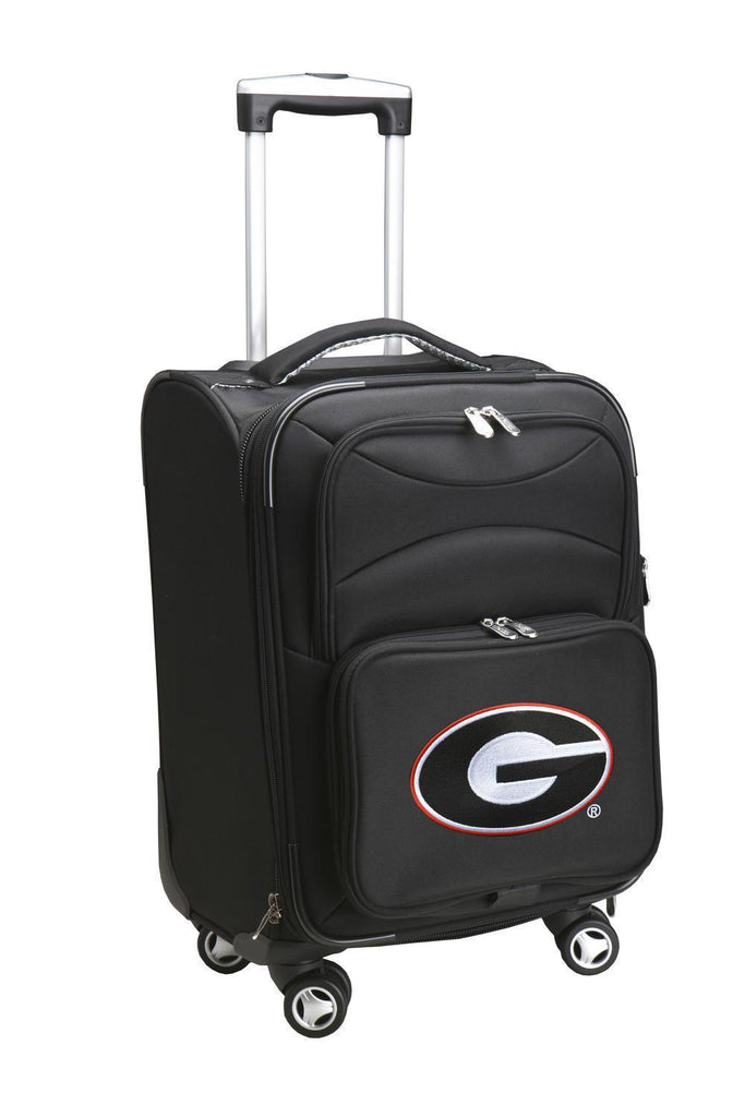 Georgia Bulldogs Luggage Carry-On 21in Spinner Softside Nylon-BLACK