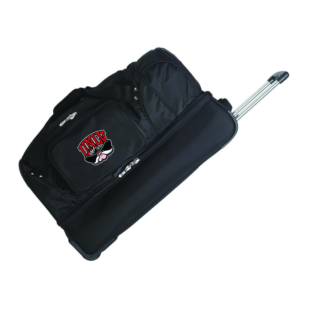 UNLV Rebels 27in Wheeled Duffel Nylon bag-BLACK
