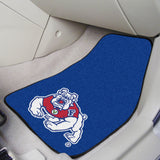 "Fresno State 2-pc Carpeted Car Mats 17""x27"""