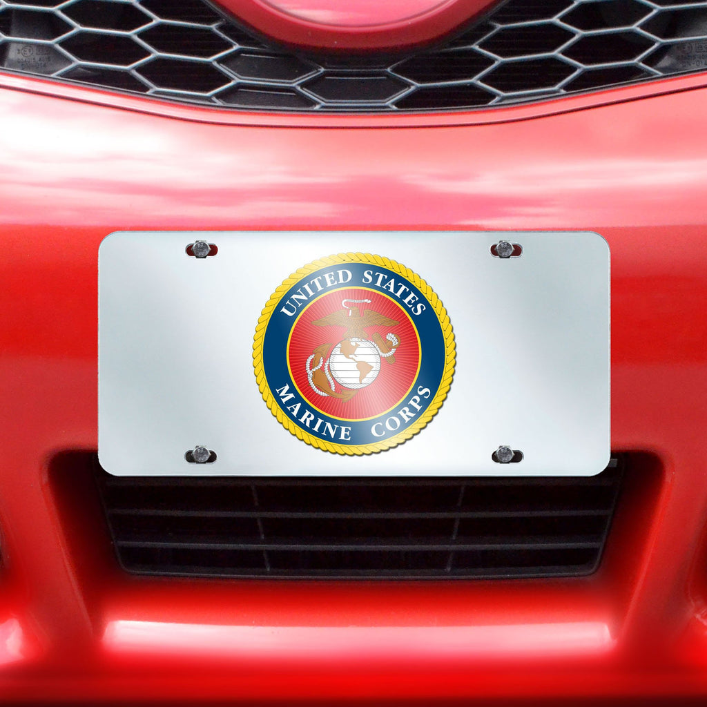"Marines License Plate Inlaid 6""x12"""