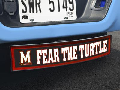 "Maryland Fear the Turtle Light Up Hitch Cover 21""x9.5""x4"""