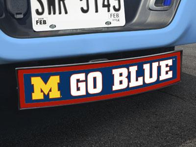 "Michigan Go Big Blue Light Up Hitch Cover 21""x9.5""x4"""