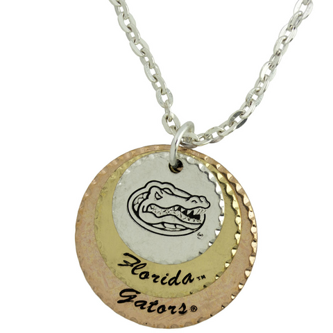 Florida Gators Stacked Disk Necklace
