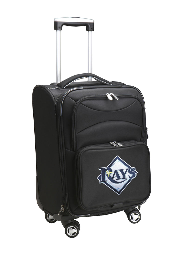 Tampa Bay Rays Luggage Carry-On 21in Spinner Softside Nylon-BLACK