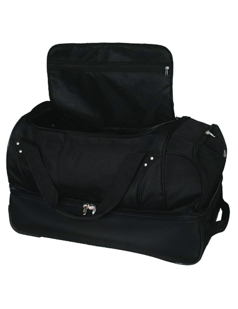 Tampa Bay Rays 27in Wheeled Duffel Nylon bag-BLACK