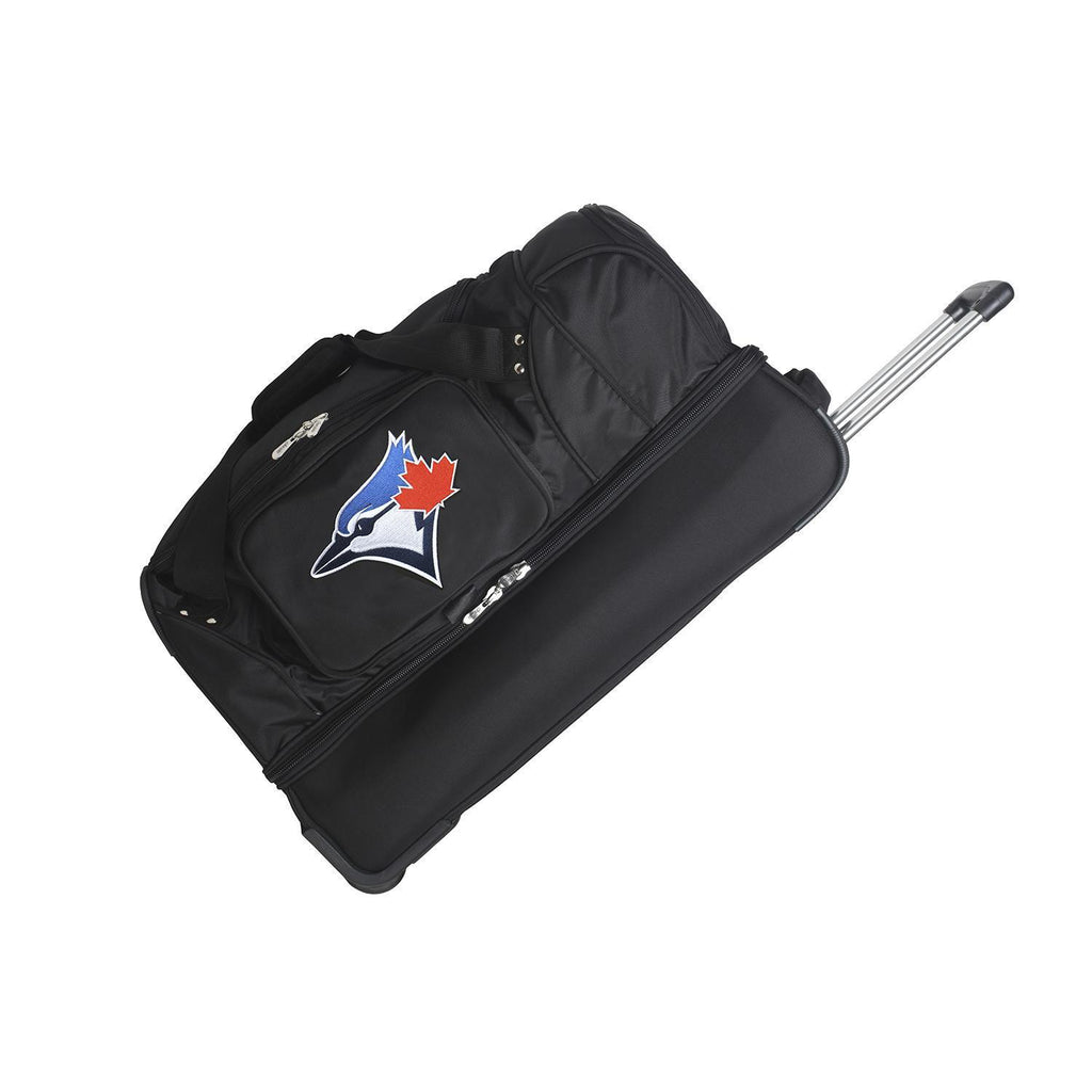 Toronto Blue Jays 27in Wheeled Duffel Nylon bag-BLACK