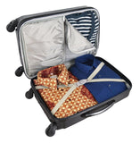 Vancouver Canucks Luggage Carry-on 21in Hardcase two-tone Spinner 100% ABS-GRAY