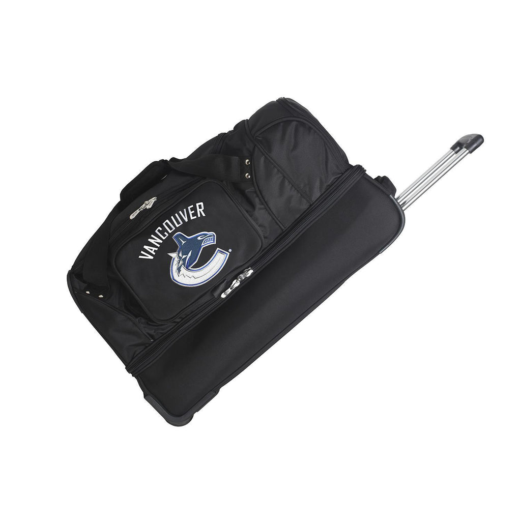 Vancouver Canucks 27in Wheeled Duffel Nylon bag-BLACK
