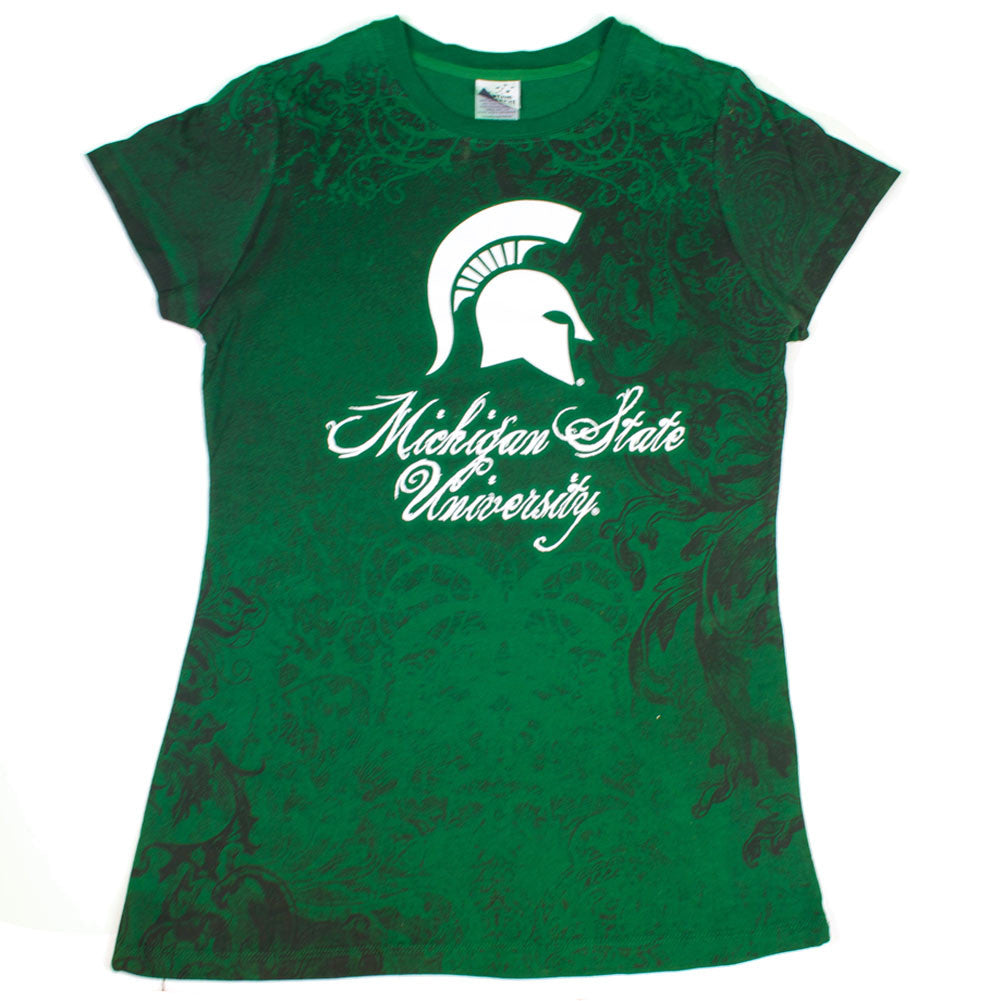 "Collegiate - Michigan State Spartans Women's ""Fight-On"" Designer Shirt"