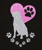 Rottweiler Paw Heart Glitter Infused Yoga Pants