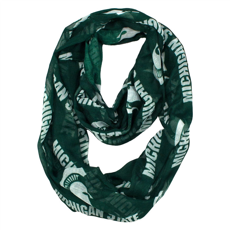 IScarf - Michigan State Sheer Green Infinity Scarf