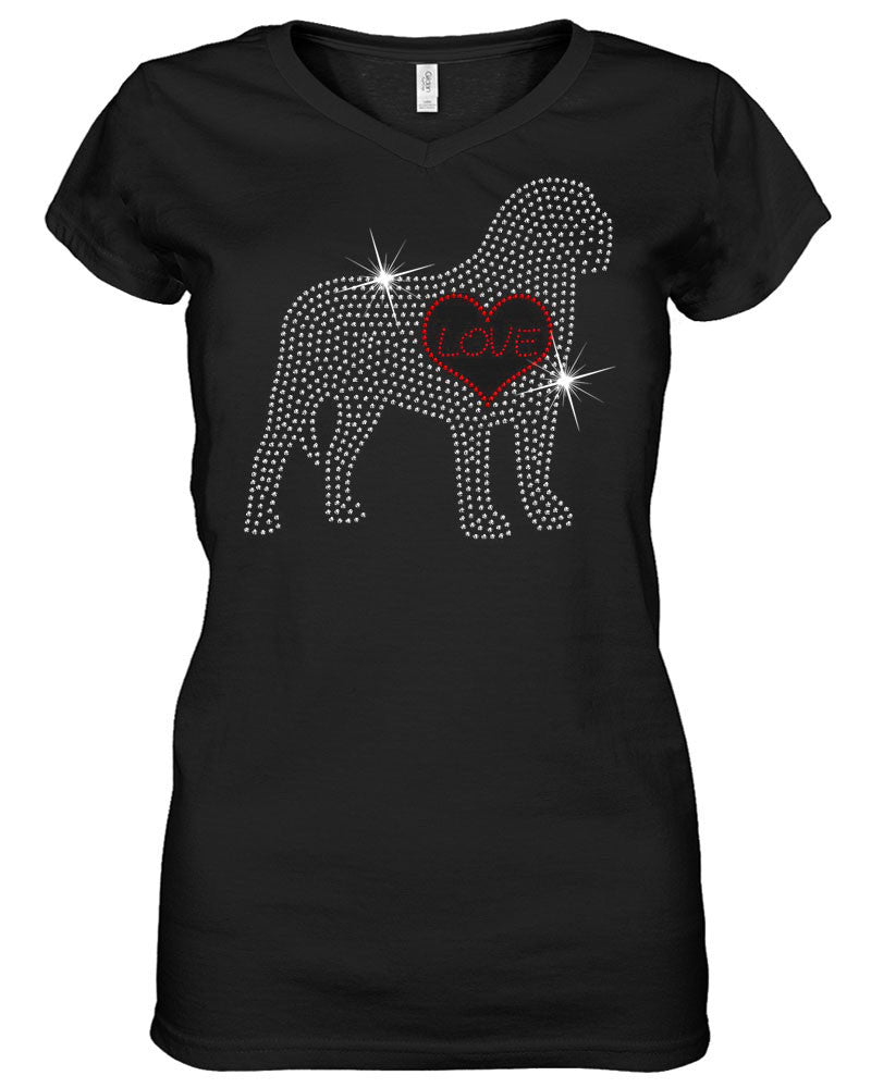 Mastiff Love Flat Rhinestone Shirt