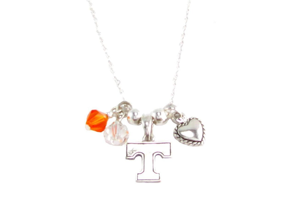 Necklace - Tennessee Volunteers NCAA Austrian Crystal Silver Necklace