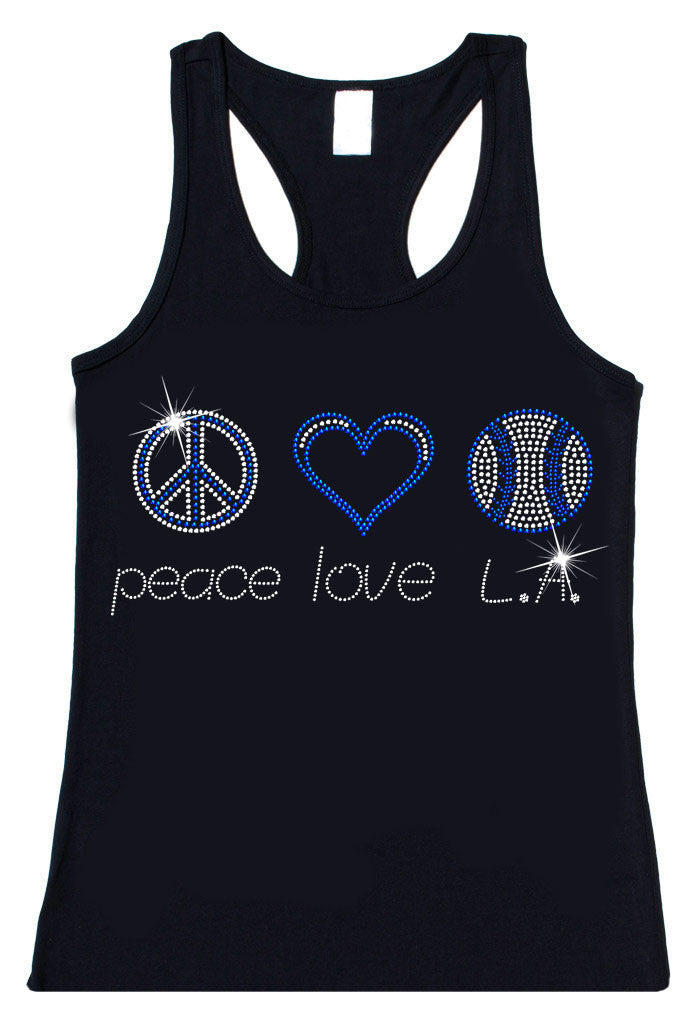 Peace Love L.A. Rhinestone
