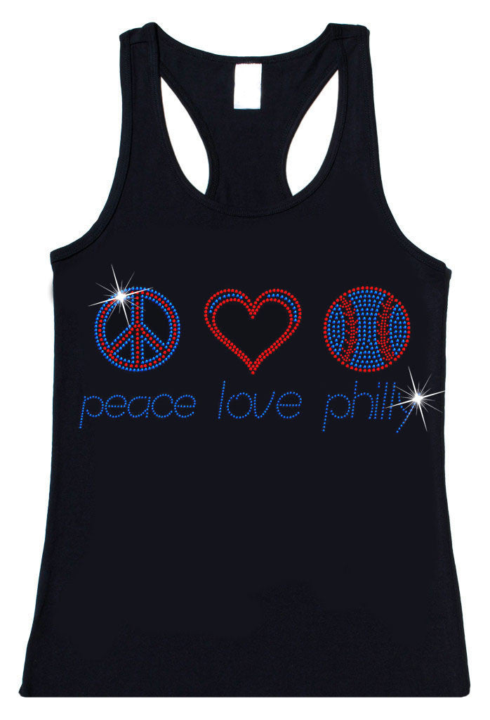 Peace Love Philly Rhinestone