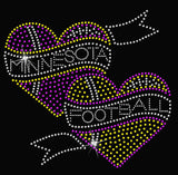 V-Neck - Minnesota FB Hearts V-Neck