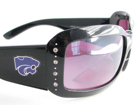 WSunglassses - Kansas State Wildcats NCAA Women's Black Fashion Sunglasses