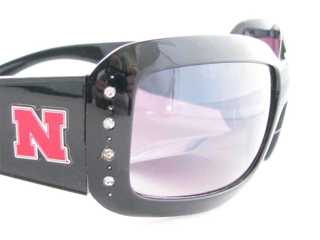 WSunglassses - Nebraska Cornhuskers NCAA Women's Black Fashion Sunglasses