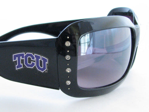 WSunglassses - TCU Horned Frogs NCAA Women's Black Fashion Sunglasses