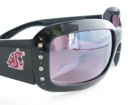 WSunglassses - Washington State Cougars NCAA Women's Black Fashion Sunglasses